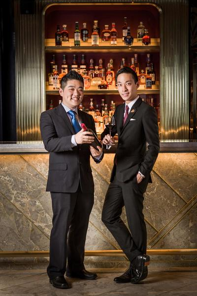 Sommeliers Jack Cheung and Mason Ng