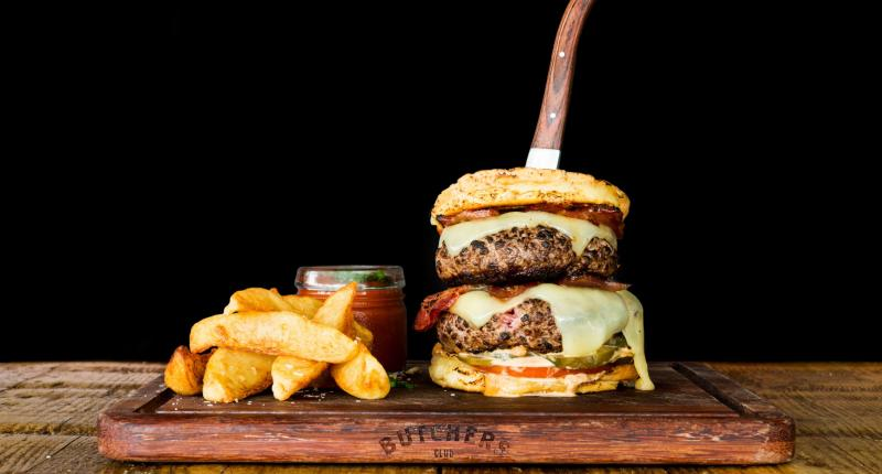 The Butchers Club Burgers Double Happiness Burger