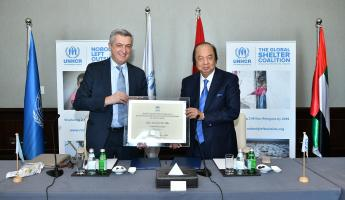 Filippo Grandi, 11th United Nations High Commissioner for Refugees and Dato' Sri Tahir