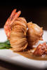 CRISPY TARO TIGER PRAWN SERVED WITH SAUCE CRUSTACES AND KIMCHI HACHEE; PHOTO: EDMON LEONG