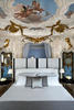 A BEDROOM IN THE TIEPOLO SUITE AT AT AMAN CANAL GRANDE