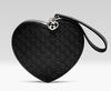 Gucci Microguccissima Leather Heart Kid's Wristlet: