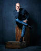 MICHAEL KEATON;JUMPER AND SHOES: LANVIN; SHIRT: TOM FORD; TROUSERS: ERMENEGILDO ZEGNA