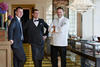 RESTAURANT MANAGER SÉBASTIEN BOUDON, HEAD SOMMELIER SEBASTIAN ALLANO AND CHEF DE CUISINE FABRICE VULIN; PHOTO: SIMON J NICOL
