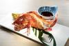 BINCHOTAN-GRILLED KINKI FISH