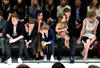THE BECKHAM FAMILY SITTING FRONT ROW AT A BURBERRY SHOW