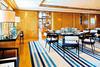 Motor Yacht TV dining quarters