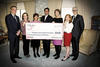 Cheque presentation to the Breast Cancer Research Foundation