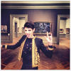 Harry Brant poses in a Saint Laurent jacket for the met ball