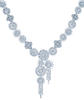 Corsage necklace in platinum with baguette and round diamonds