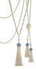 Tassel pendant of freshwater cultured pearls precisely matched for size, colour and luster, with diamonds in platinum