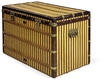 Louis Vuitton high trunk in striped canvas, late 19th century. Sold by Christie's for £37,250