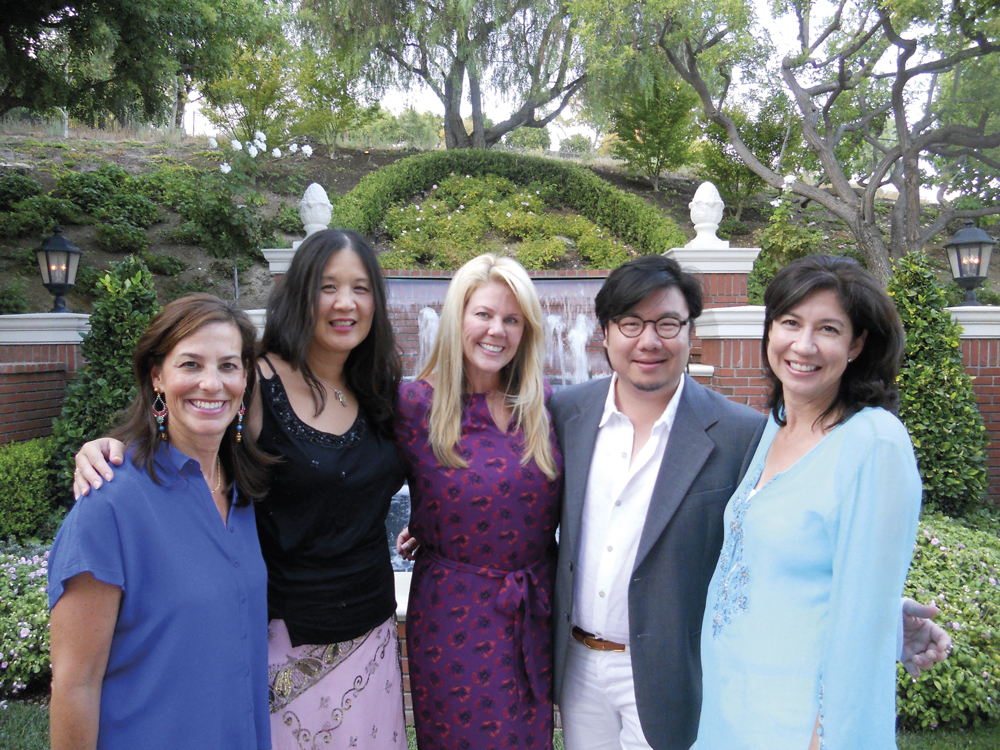 Kevin Kwan at a fundraising party in Los Angeles