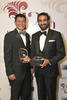 ; RIGHT;  2013 winner GS Sareen with DBS's head of cards and unsecured loans Anthony Seow