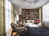 Not usually one to buy labels, Somjee mixes and matches fendi pieces (sofa and carpet) with chesley rattan chairs from WTP in her second-floor sitt...