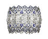 Chaumet Hortensia bracelet in white gold with brilliant- and baguette-cut diamonds, brilliant-cut sapphires, lapis lazuli and 15 oval-cut diamonds...