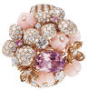 Chaumet Hortensia brooch in pink gold, set with pink and angel-skin opals, marquise-cut pink tourmalines and brilliant-cut pink sapphires and diamonds