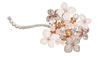Chaumet Hortensia ring in pink gold, set with pink opals, brilliant- and baguette-cut diamonds, brilliant-cut pink sapphires and a 1.42-ct cushion-...