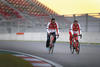 Fernando Alonso and Ferrari teammate ride their Colnagos round the track atthe Korean Formula One Grand Prix (getty images)