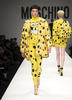 models take Moschino's spongebob squarepants-inspired items to the runway