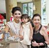 Karen Ong-Tan with Kara and Renee Tan