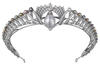 Cartier's royal pearl presented on a tiara featuring a 166.18-grain natural pearl, natural pearls and diamonds