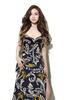 KIM LIM WEARS FLOOR-LENGTH VINE PRINT SILK CHIFFON DRESS, FROM BURBERRY PRORSU