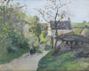Camille Pissarro's (1830-1903) Le grand noyer a l'Hermitage Sold for £314,500 at a Bonhams auction.