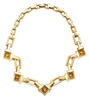 TiffanyT necklace in 18k yellow gold with citrine.