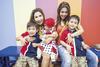 Kartini and Vashty Soegomo with Jaythan, Jazarah and Jayden McNee