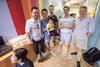 Thomas McNee, Jimmy and Ethan Tan, Andi Bourke, Timothy Wong and Angus Davidson