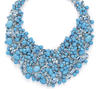 Necklace of Aquamarines and Turquoise set with diamonds in a fluid Platinum setting