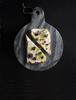 Ricotta, preserved lemon and Okinawan black sugar on toast