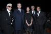 Karl Lagerfeld, Bernard Arnault, Minister Maria Elena Boschi, Antonio Belloni and Pietro Beccari