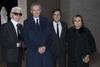 Karl Lagerfeld, Bernard Arnault, Pietro Beccari and Silvia Venturini Fendi