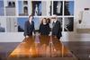 Pietro Beccari, Silvia Venturini Fendi and Karl Lagerfeld
