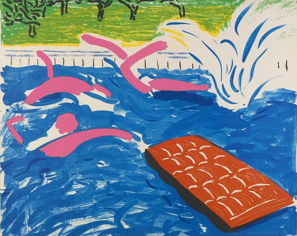 David Hockney, Afternoon Swimming 1980, Lithograph (© David Hockney / Tyler Graphics Ltd.; Photo Credit: Richard Schmidt)