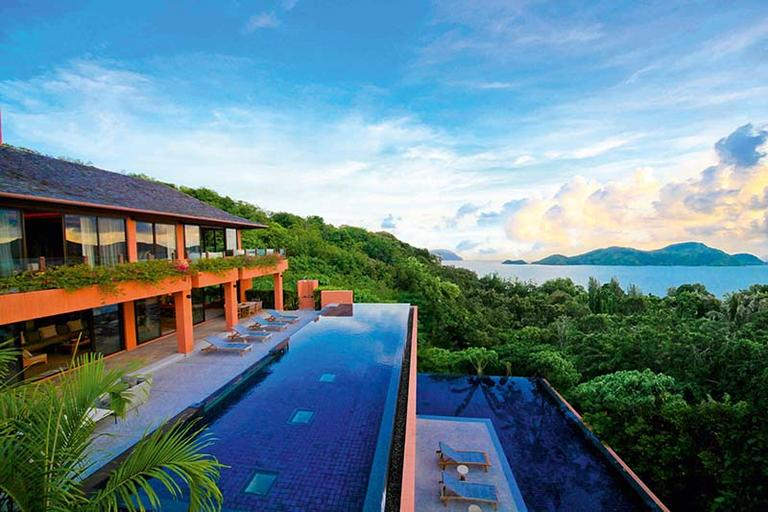 Dual infinity pools in Sri Panwa's Residence Villa