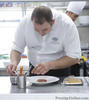 Chef Arnaud Dunand Suathier working in Le Normandie kitchen (Photo - Surachet Midam)