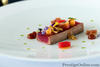 Red tuna with almonds and two kinds of melon (photo -Surachet Midam)