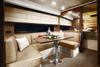 Azimut; Dinette with special decor Alta Moda Italiana; Photo courtesy Azimut; PrestigeOnline