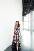 Natira Boonsri; Dress by Adrianna Papell, Shoes by Christian Louboutin, Necklace by Pomellato; Photography by Virunan  Chiddaycha
