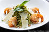 Homemade pesto pasta with parmesan and shrimp (Photo - Kaan Suchanin)