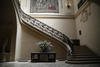An elaborate staircase at the Frick Museum