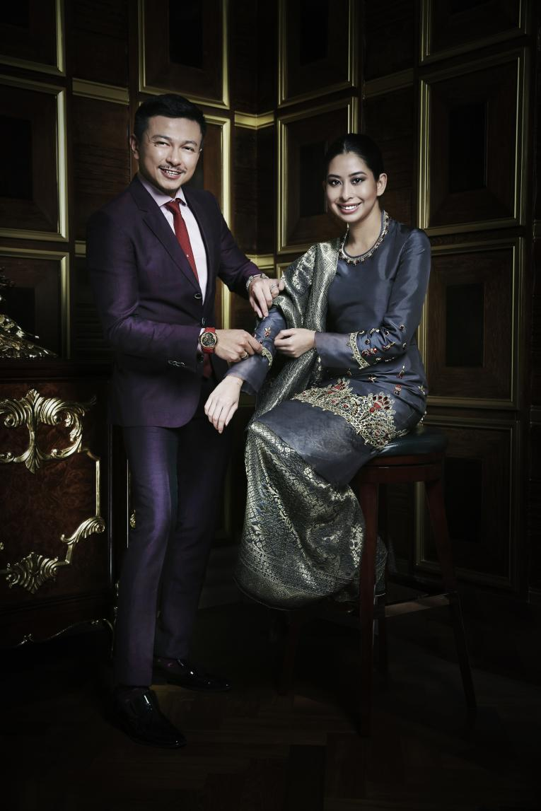 Jovian Mandagie and HRH Royal Highness Tunku Tun Aminah