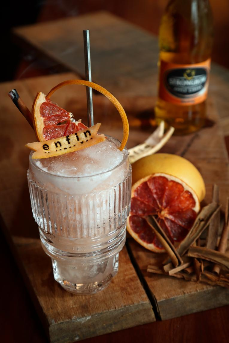 Woodfire, a unique cocktail created using Strongbow