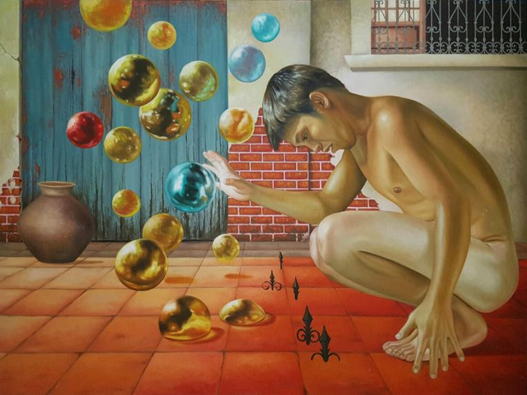 Dream Choices, 2016, oil on canvas, by Jerry Morada