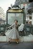 "Dior fashion model wearing the ""Palais de glace"" dress 1957 (Mark Shaw/mptvimages.com)"