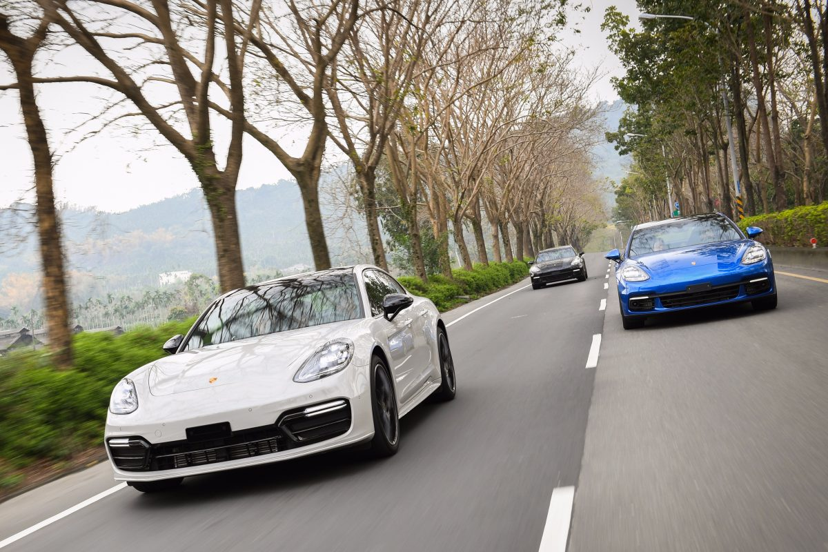 Driving Porsche Panameras in Taiwan