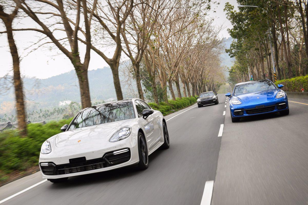 Driving Porsche Panameras in Taiwan
